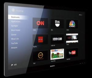 Home page della tv