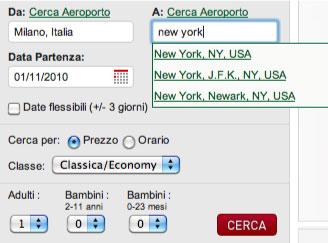 Gli utili suggerimenti del sito di Alitalia