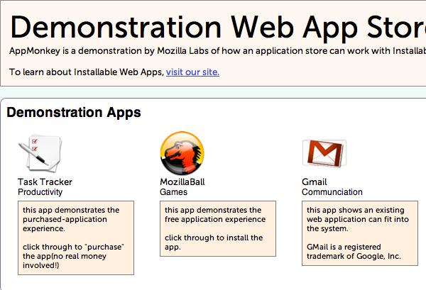 Mozilla App Store