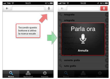 input vocale su iPhone