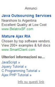 Esempi di annunci pubblicitari personalizzati su Gmail