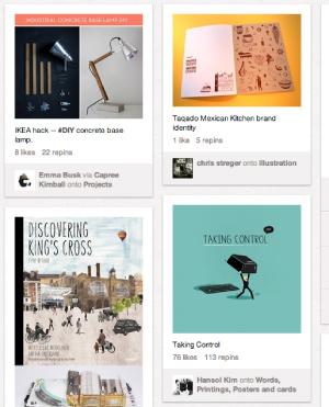 A Pinterest board