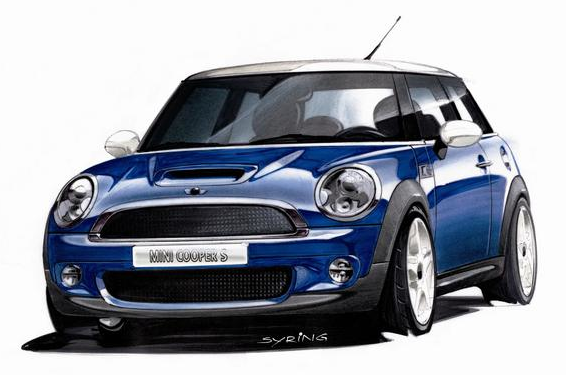 Mini Cooper Design Sketch